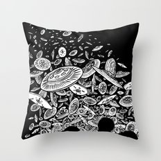 The Day the Saucers Came Throw Pillow