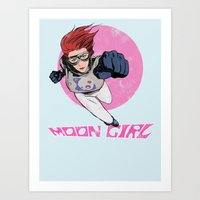 Moon Girl Punch-Out Art Print