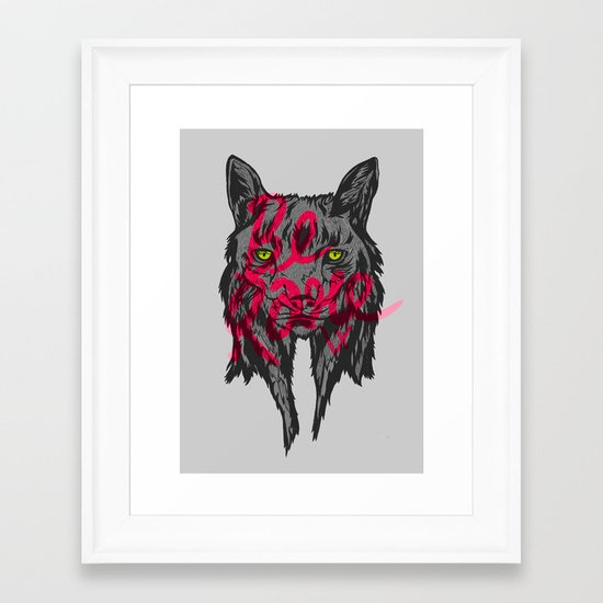 BE RARE TRASH VERSION Framed Art Print