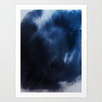 Watercolor Blue Art Print