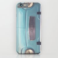 Mint - Blue Retro Fiat Car  iPhone 6 Slim Case