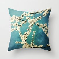 Waiting For Spring To Bl… Throw Pillow