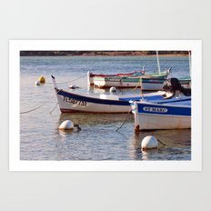 French boats - St Marc 6976 Art Print