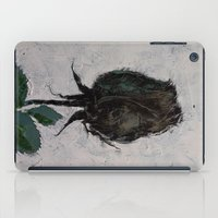 Black Rosebud iPad Case