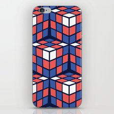 cascade - red/white/blue iPhone & iPod Skin