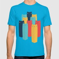Cats Mens Fitted Tee Teal SMALL