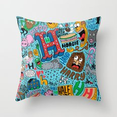 H Pattern Throw Pillow