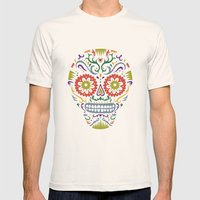 Sugar Skull SF multi 2 - on white Mens Fitted Tee Natural SMALL