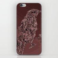 Red Bird Machine City iPhone & iPod Skin