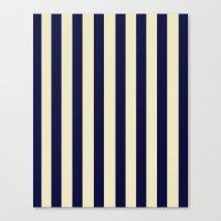 Navy Stripes Canvas Print