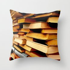 books and books and books... Throw Pillow