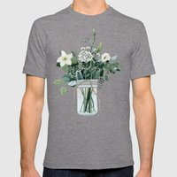 Forest Bouquet Mens Fitted Tee Tri-Grey SMALL