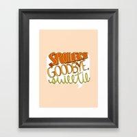 Goodbye, Sweetie Framed Art Print