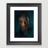 The Walking Dead - Rick … Framed Art Print