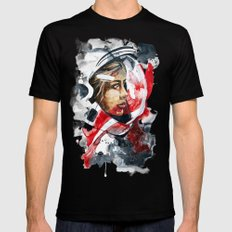 cosmonaut portrait by carographic Mens Fitted Tee Black SMALL