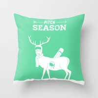 Pitch Season (Killed by work) Throw Pillow