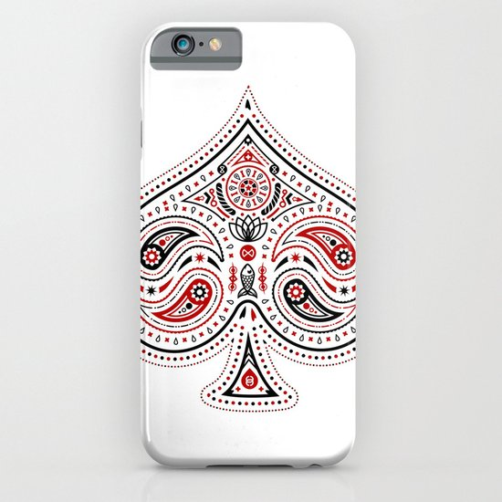 83 Drops - Spades (Red & Black) iPhone & iPod Case