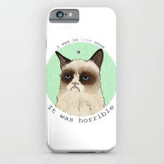 Grumpy cat love iPhone 6 Slim Case