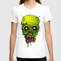zombie T-shirts featuring Zombie by Lady Macabre Art
