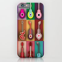 iPhone & iPod Case featuring Abstract Guitars by Robin Curtiss