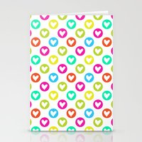 Colorful Hearts  Stationery Cards