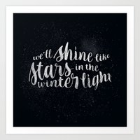 Shine like Stars - Winter Art Print