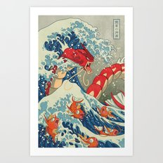 The Great Wave Off Kanto… Art Print