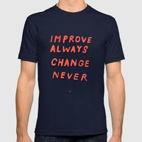 DON'T EVER CHANGE Mens Fitted Tee Navy SMALL