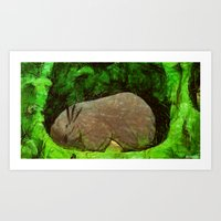 sleeping forest guardian  Art Print