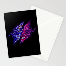 Twin Demons Intertwined Stationery Cards