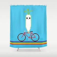 Daikon Bike Shower Curtain