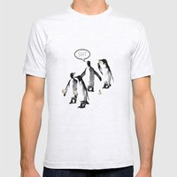 Penguins and Ice Creams Mens Fitted Tee Ash Grey SMALL