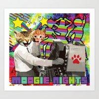 Moogie Nights Art Print