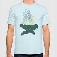 Banana Boy Mens Fitted Tee Light Blue SMALL