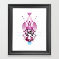 In Love (With Herself) Framed Art Print