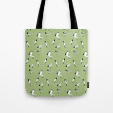 Bird Print - Olive Green Tote Bag