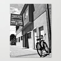 Canvas Print featuring Community Pub by Vorona Photography
