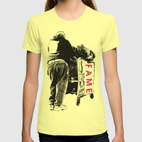 FAME Womens Fitted Tee Lemon SMALL