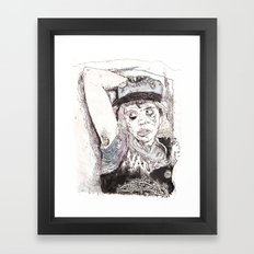 Pitstain. Framed Art Print