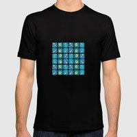 Evil Eye Squares Mens Fitted Tee Black SMALL