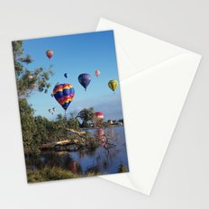 Hot air balloon scene Stationery Cards