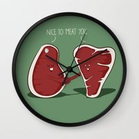 Nice To Meat You Wall Clock