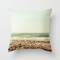 Free At The Sea Throw Pillow