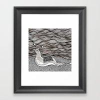 Sad Snail Framed Art Print