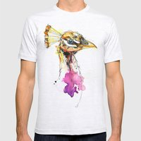 Sunset Peacock Mens Fitted Tee Ash Grey SMALL