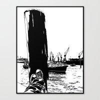 Hamburg Fischmarkt Canvas Print