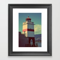 Light On A Shore Framed Art Print