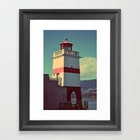 light on a shore Framed Art Print