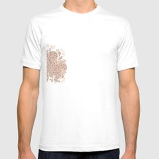 Bubbles Mens Fitted Tee SMALL White