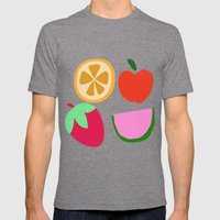 Fruit Salad Mens Fitted Tee Tri-Grey SMALL